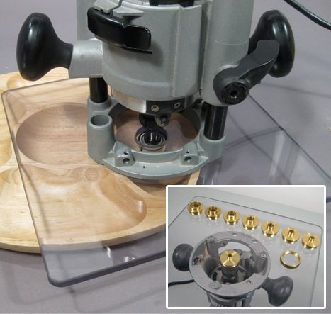 Large router base plate 11 12 woodtools pinterest router extra large base plate offers more stability our heavy duty large router plate is made from acrylic for extra durability and now comes pre drilled to fit greentooth Gallery