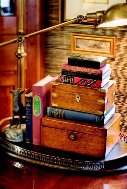 Books and Wooden Boxes