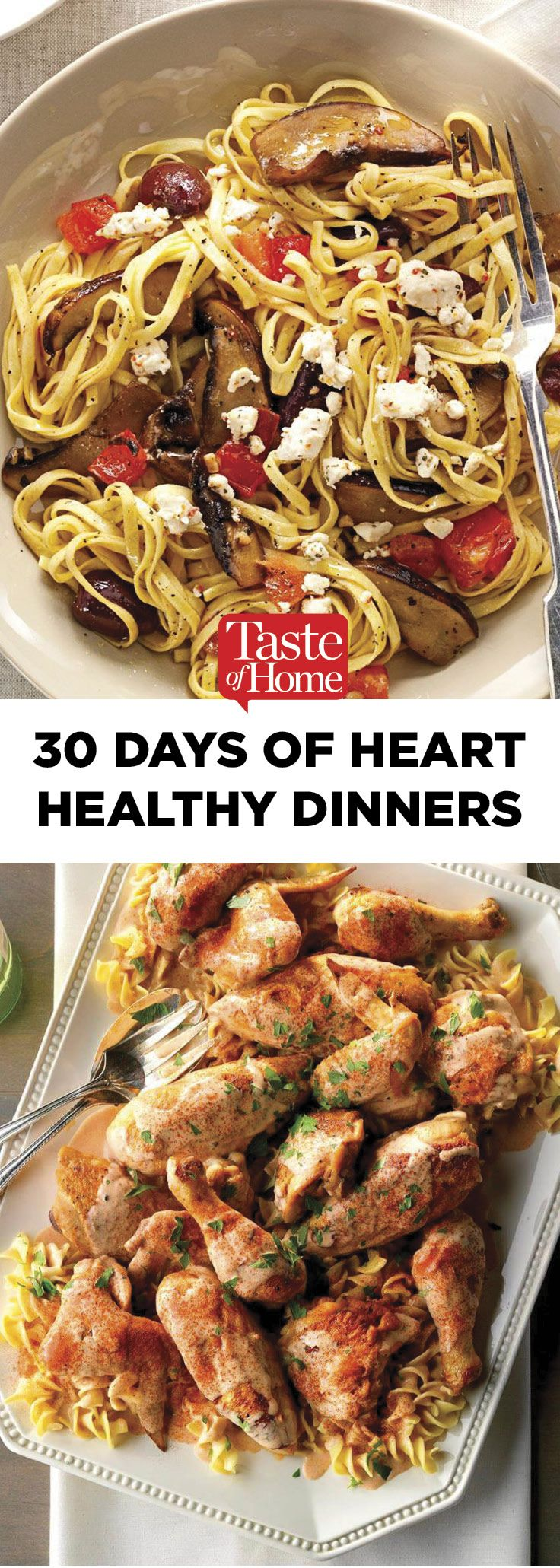 30 Days of Heart-Healthy Dinners images
