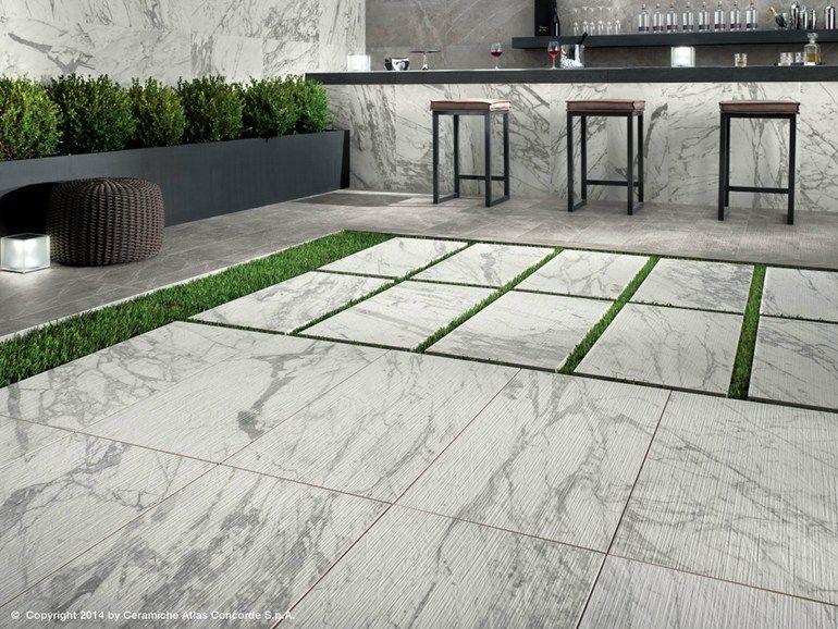 Pavimento in gres porcellanato effetto marmo per interni ed