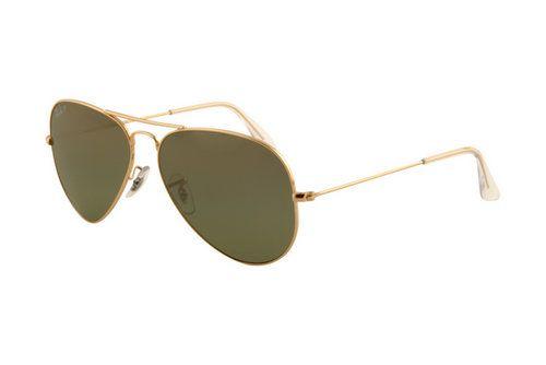 Ray Ban Aviator RB3025 Oculos de Sol Arista Quadro Cristal Verde Polarizada Lente AAY