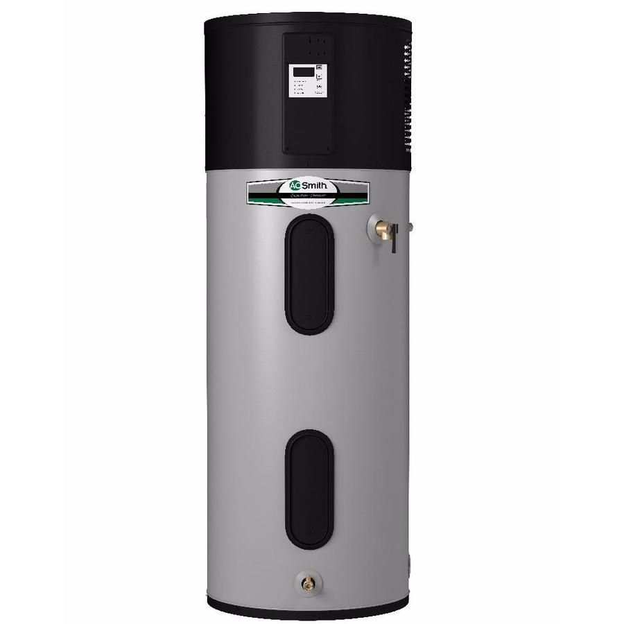 A O Smith Signature Premier 50 Gallon Tall 10 Year Limited 4500 Watt Double Element Electric Water Heater With Hybrid Heat Pump In 2020 Heat Pump Electric Heat Pump Water Heating Systems