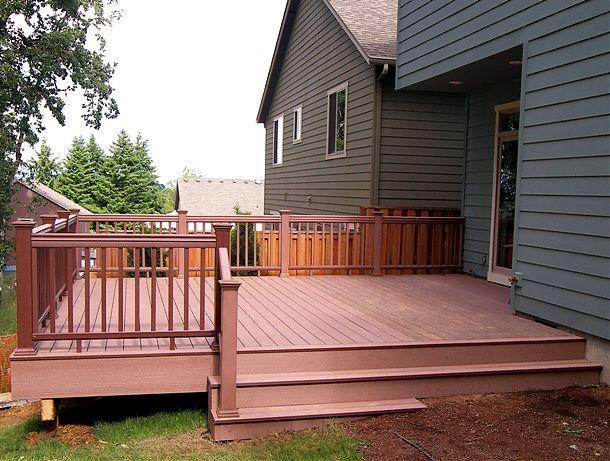 Best Redwood Timbertech Twinfinish Deck In Corvallis Oregon 400 x 300