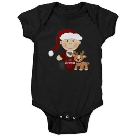 1st Christmas Baby Bodysuit on #baby #first christmas #infant #baby first christmas #reindeer #cupcake #1st christmas #babies 1st christmas #1st christmas #holiday #graphic design gifts and clothings for babies