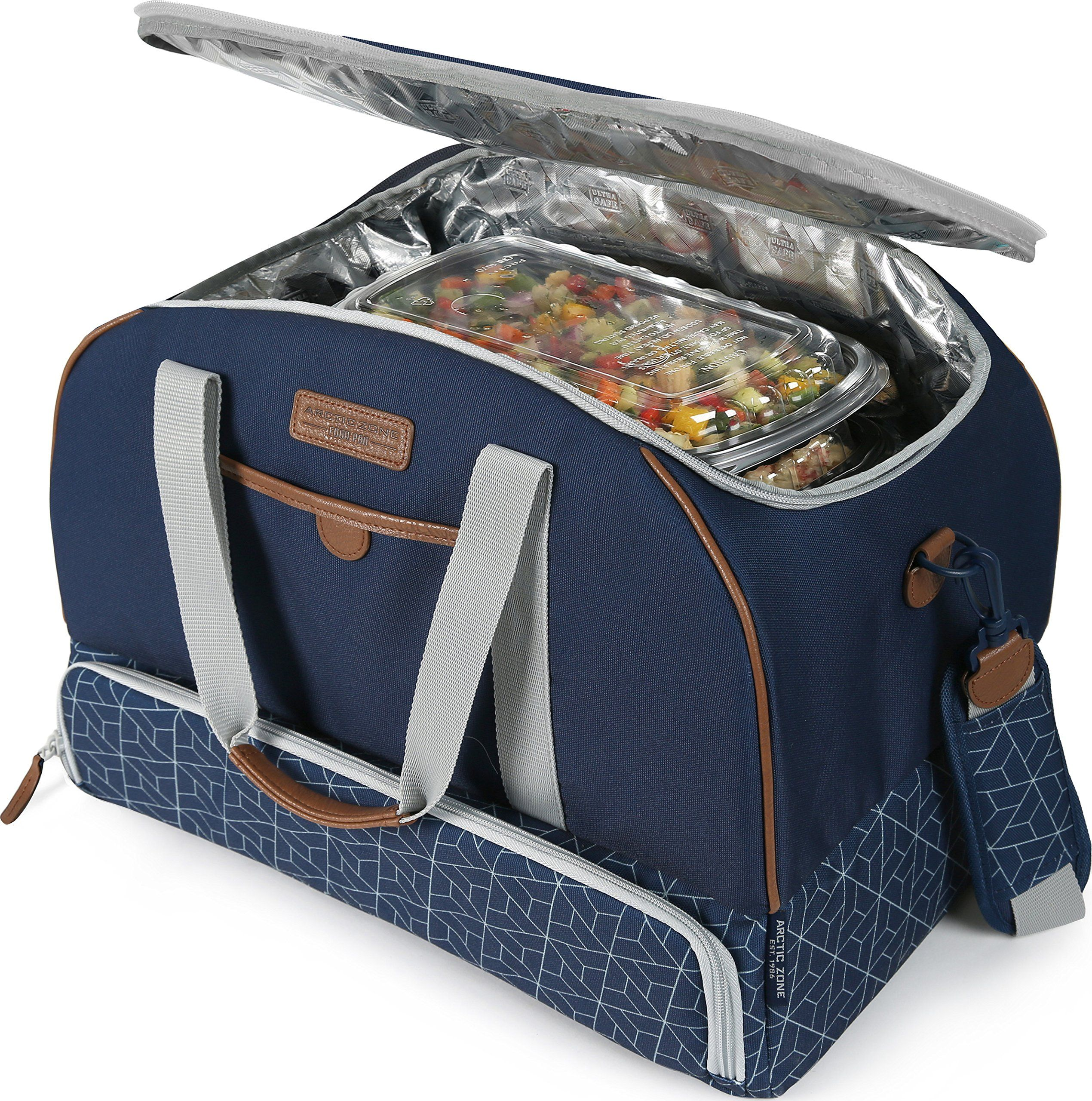 Arctic Zone 2022IL15284B Insulated Picnic Carrier Navy