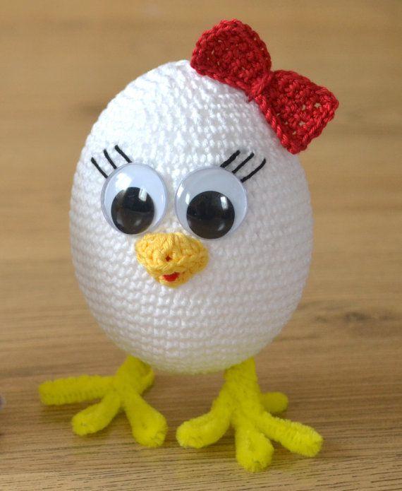 Häkelmuster: Häkeln Sie Huhn Fertig-Größe: ca. 14cm hoch Bitte ...