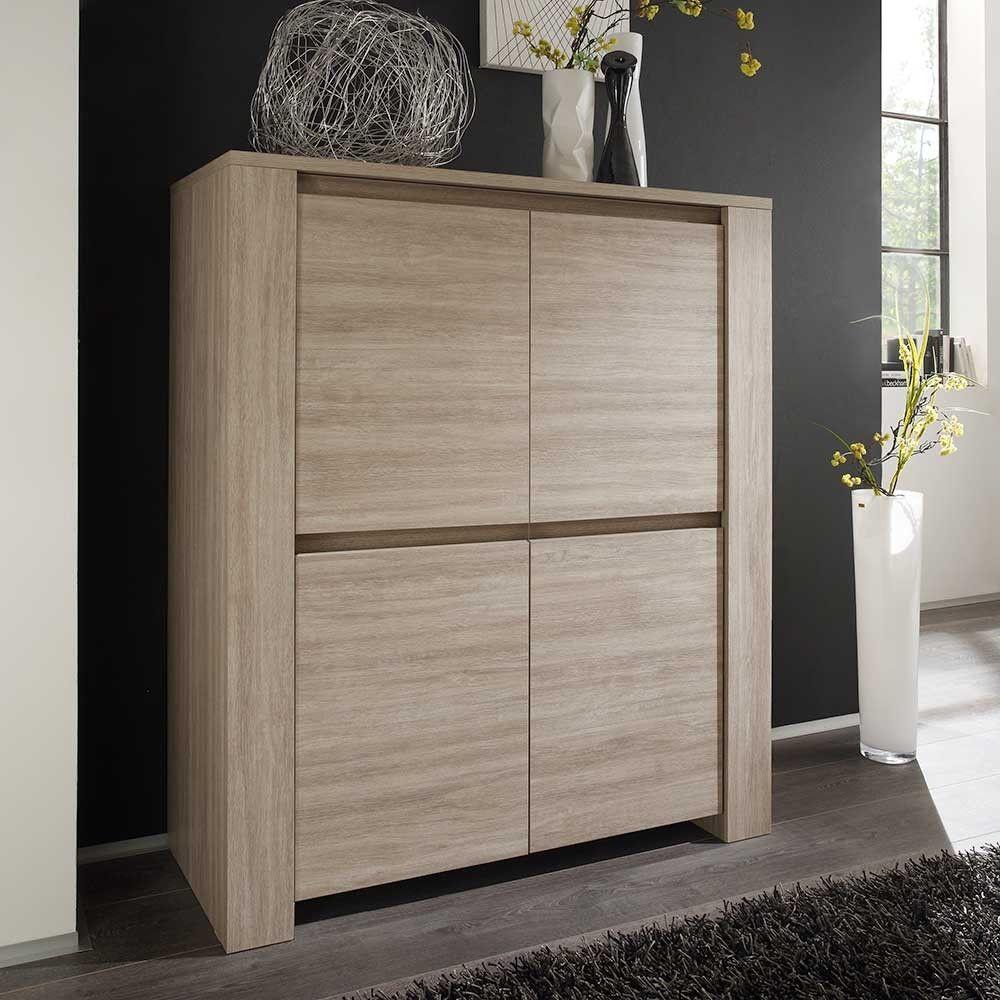 wohnzimmer highboard dafricana in eiche gek lkt 120 cm. Black Bedroom Furniture Sets. Home Design Ideas