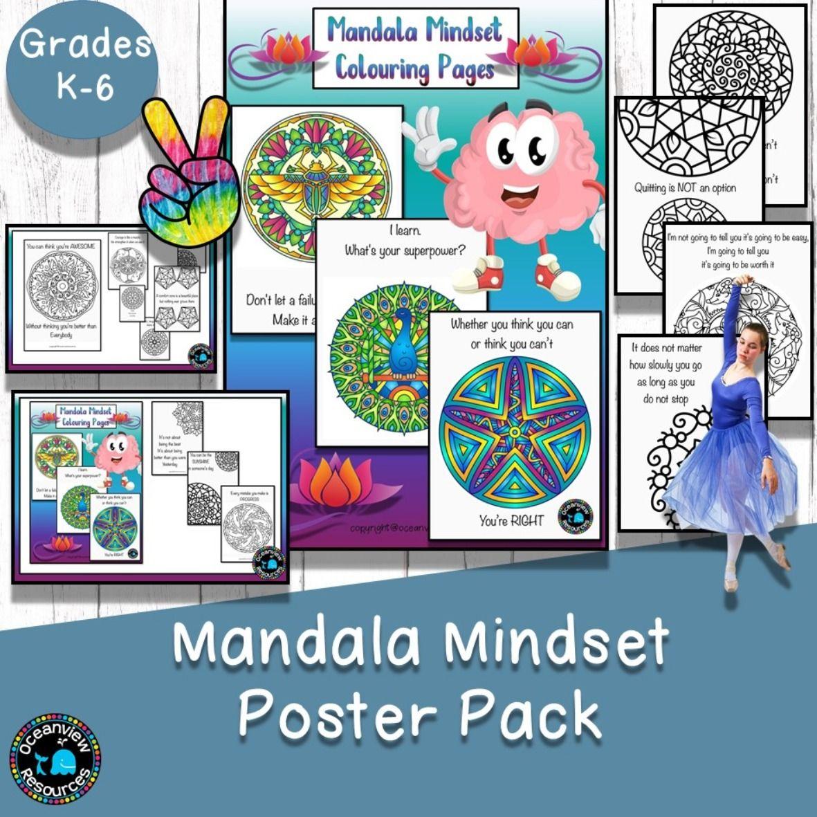 Motivational Mandala Colouring Posters