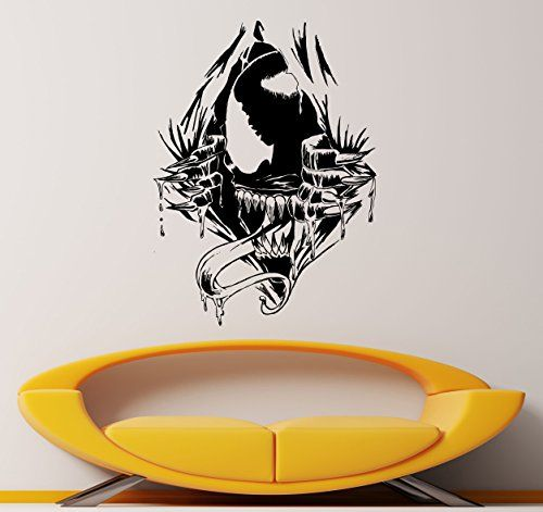 Venom Supervillain Wall Decal Venom Symbiote Vinyl Sticker Comic Books Antihero Marvel Comics Hero Interior Home Decor 20vn >>> Continue to the product at the image link.Note:It is affiliate link to Amazon.