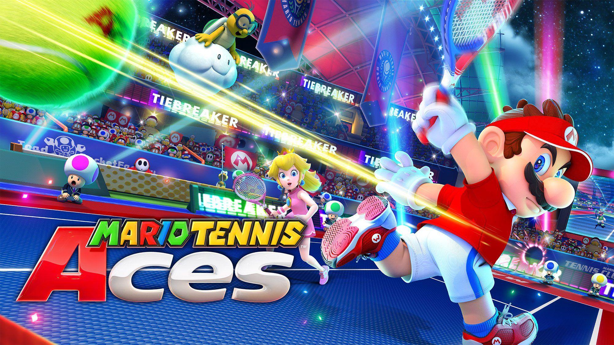 La Sortie Prochaine De Mario Tennis Aces Promet Un Match Coriace Entre Mario Et Nadal Telecharger Films Cartes Mario
