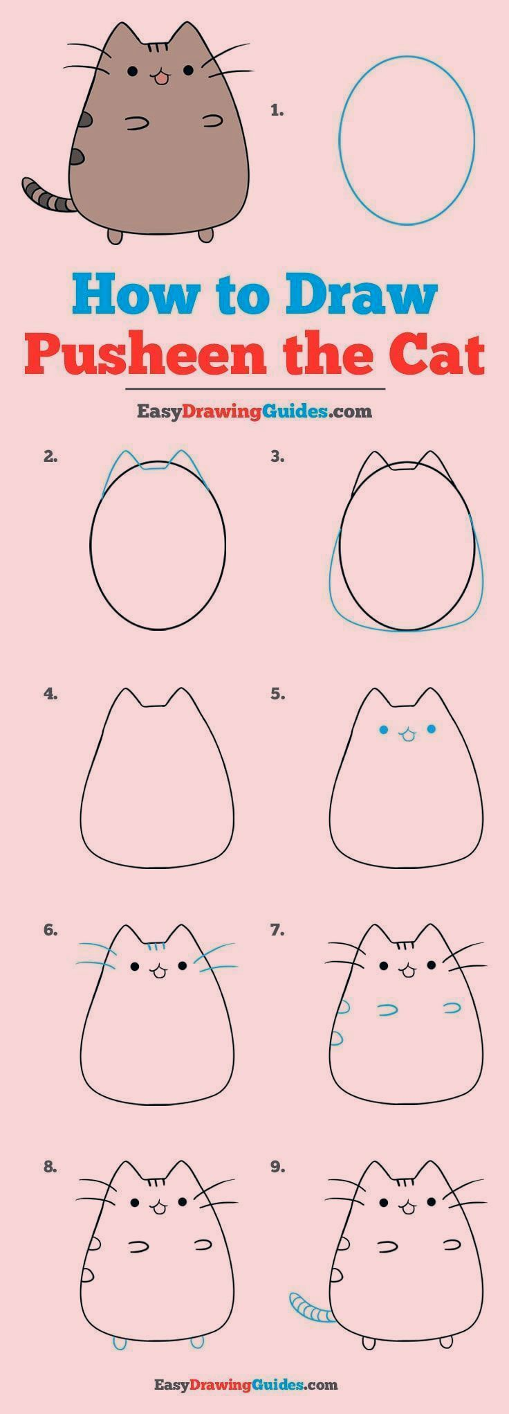 Wie zeichnet man die Katze Pusheen - Really Easy Drawing Tutorial, #Die #Drawing #easy #Katze #Man #Pusheen #Tutorial #wie #zeichnet