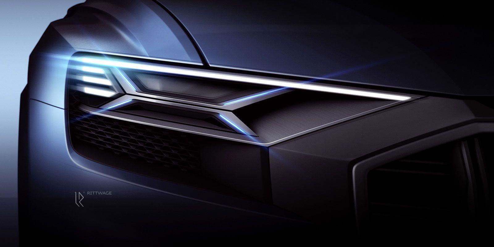 Frontlicht design audi q concept design sketch render headlight  cars  details