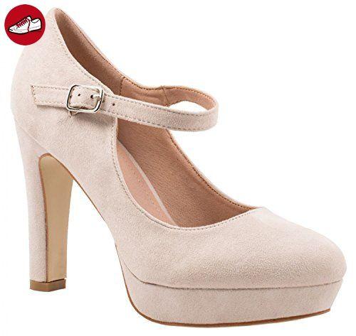 Damen Pumps Schuhe Elegant High Heels Bequeme Altrosa 36 7w52ZwCvx