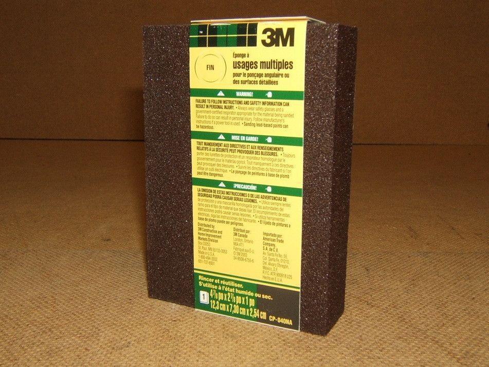 3M CP040-12-CC 4.875 by 2.875 by 1 Inch Sanding Sponge Single Angle Fine grit