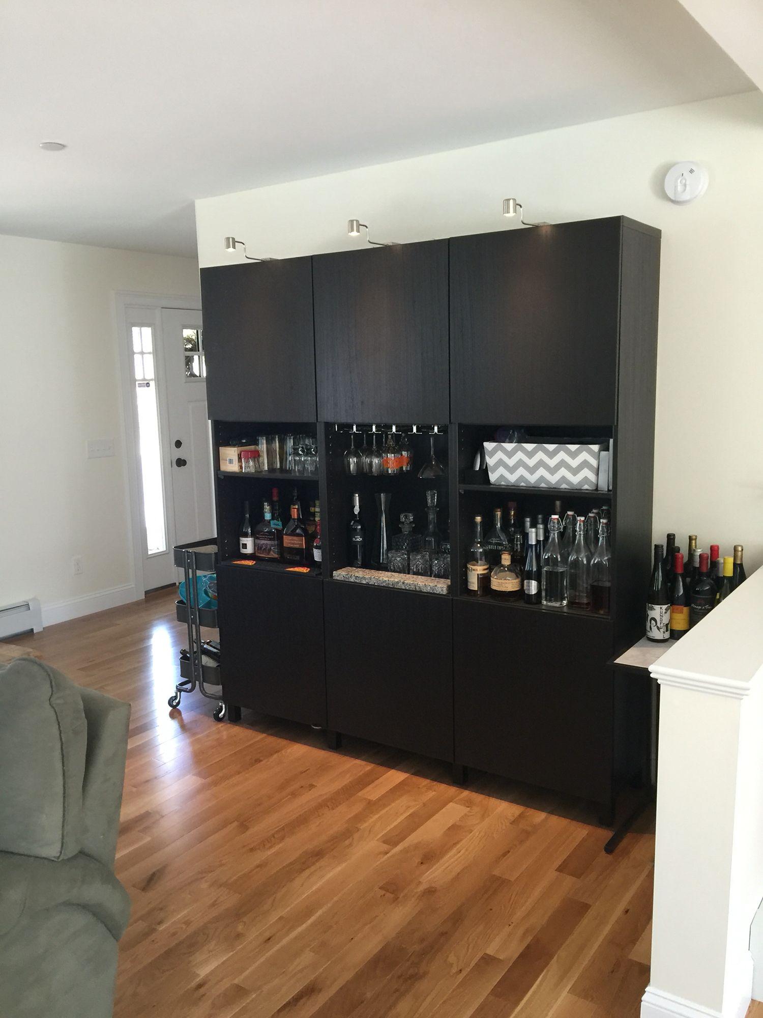 IKEA besta bar and storage area