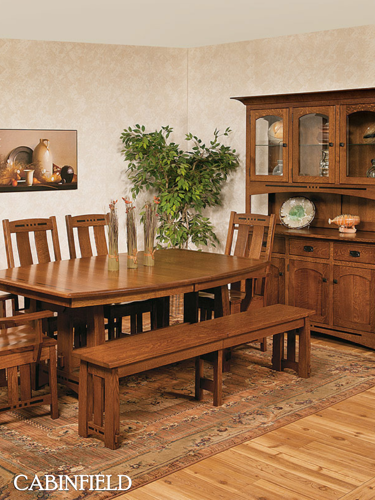 mortise and tenon construction graceful curves and delicate ebony inlays highlight the amish craftsmanship and authentic mission appeal of this handmade