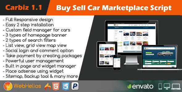 Buy Sell Car Marketplace Script Sell car