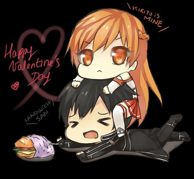 Anime Sword Art Online Happy Valentine S Day Guyss Feliz Dia De