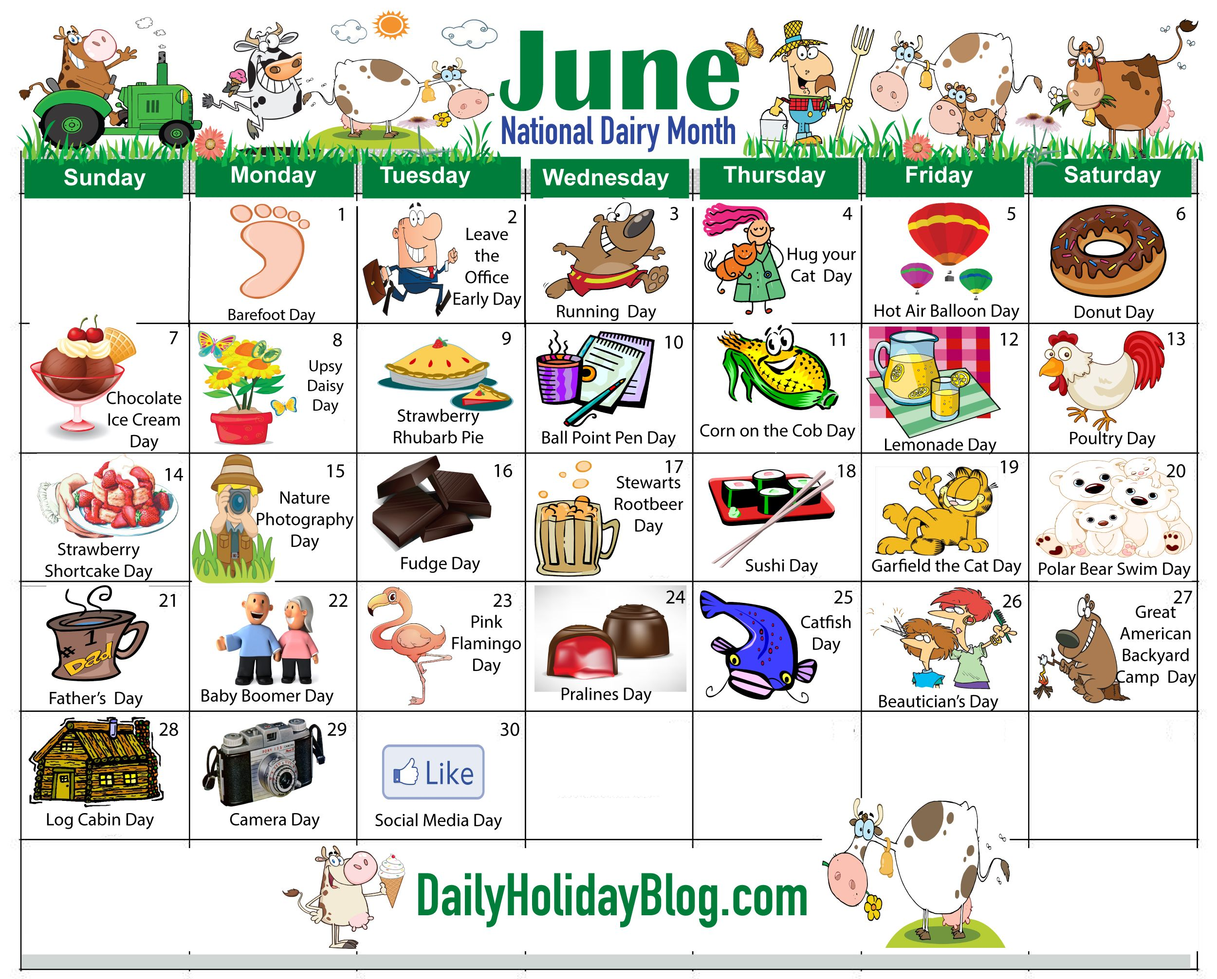 June Calendar Special Days : June holidays calendar … holiday social media pinte…