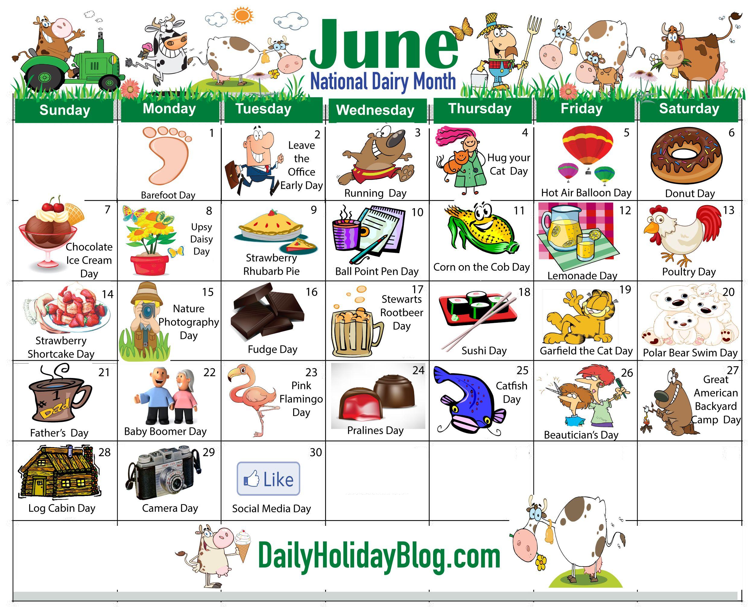 June Calendar Special Days : June holidays calendar … pinterest