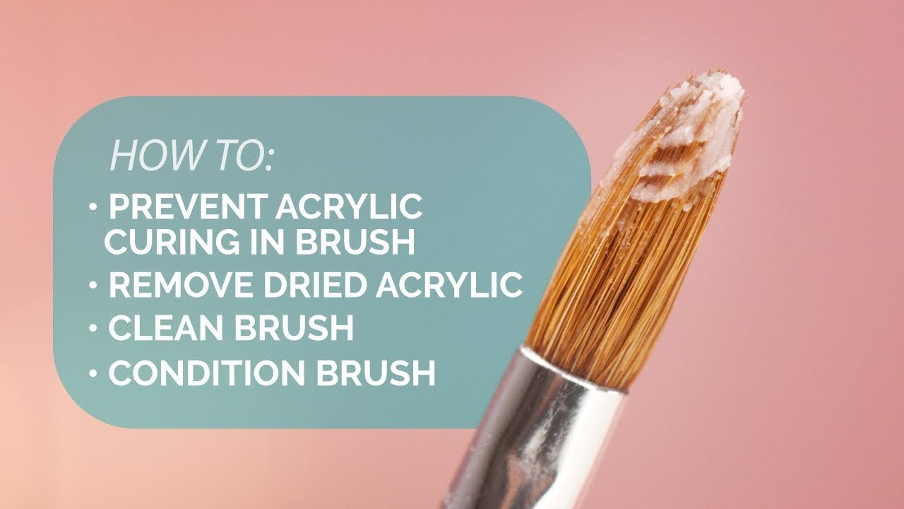 Keeping Your Acrylic Brush In Top Shape Suzie's Pro Tips