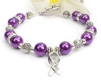 Purple Awareness Swarovski Ribbon Charm By Silveradojewelry Thyroid Cancer Make Your Own Jewelry Awesome