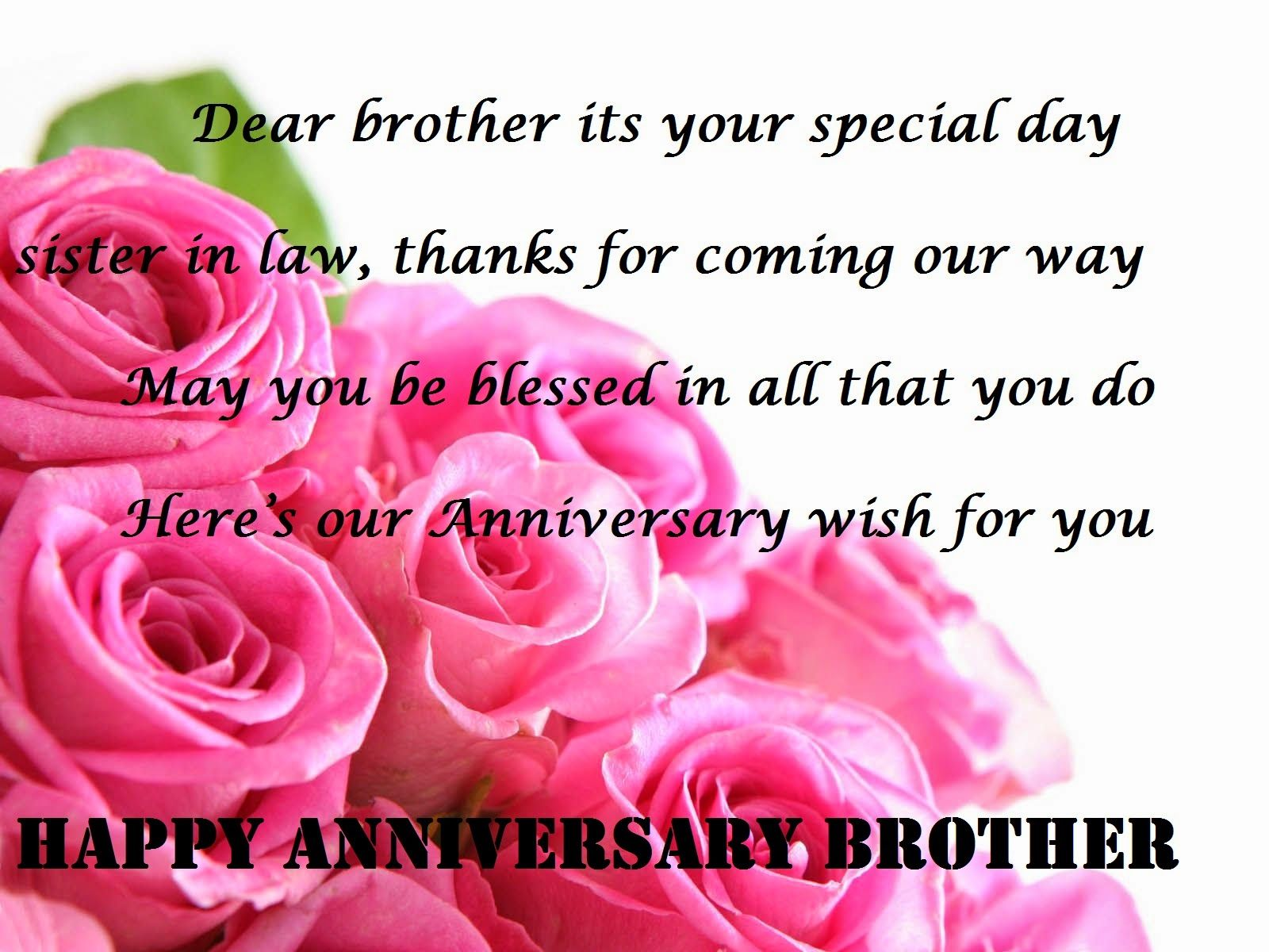 Anniversary Wishes Quotes Happy Anniversary Wishes For Brother And Sister In Law  Brother
