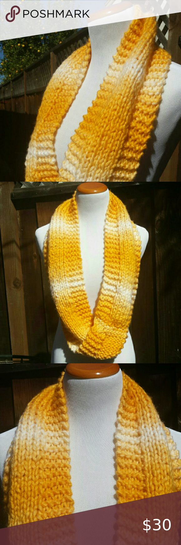 Photo of Handmade Vibrant Yellow Infinity Scarf New Handmade by my mother in law, this lo…