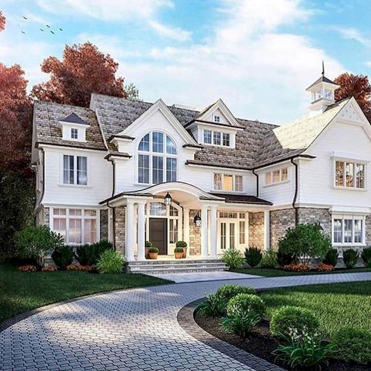 40 Fantastic Dream Home Exterior Design Ideas #beautifulhomes