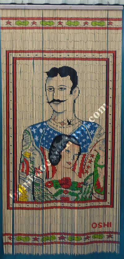 Manufacturer and exporter of Beautiful high quality Rocco Bamboo door curtain in Vietnam Portrait bamboo beaded curtain. & Amazing and wonderful high quality Tattoo Man Bamboo door curtain ... Pezcame.Com
