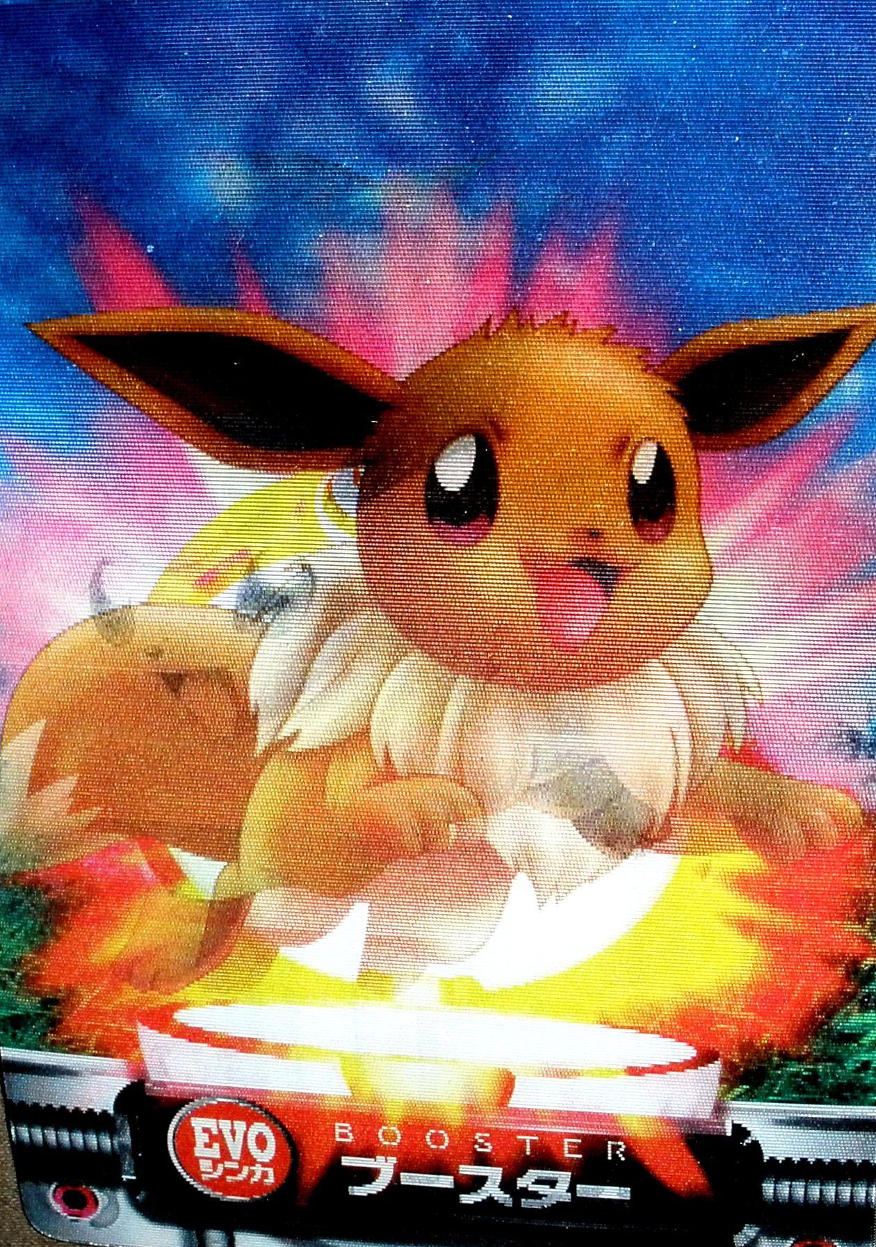 Eevee flareon jolteon 3d bandai pokemon cards pokemon