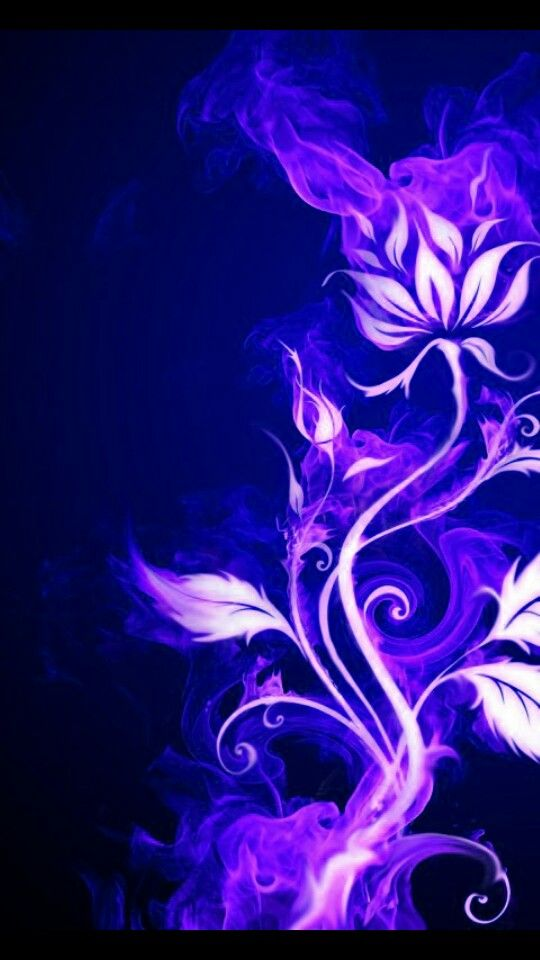 Feel free to use these blue flower aesthetic desktop images as a background for your pc, laptop, android phone, iphone or tablet. Purple fire flower   Htc wallpaper, Flower wallpaper