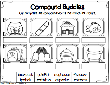 Compound Words Worksheets For Preschool on Compound Words Worksheet Esl Efl Worksheets Kindergarten