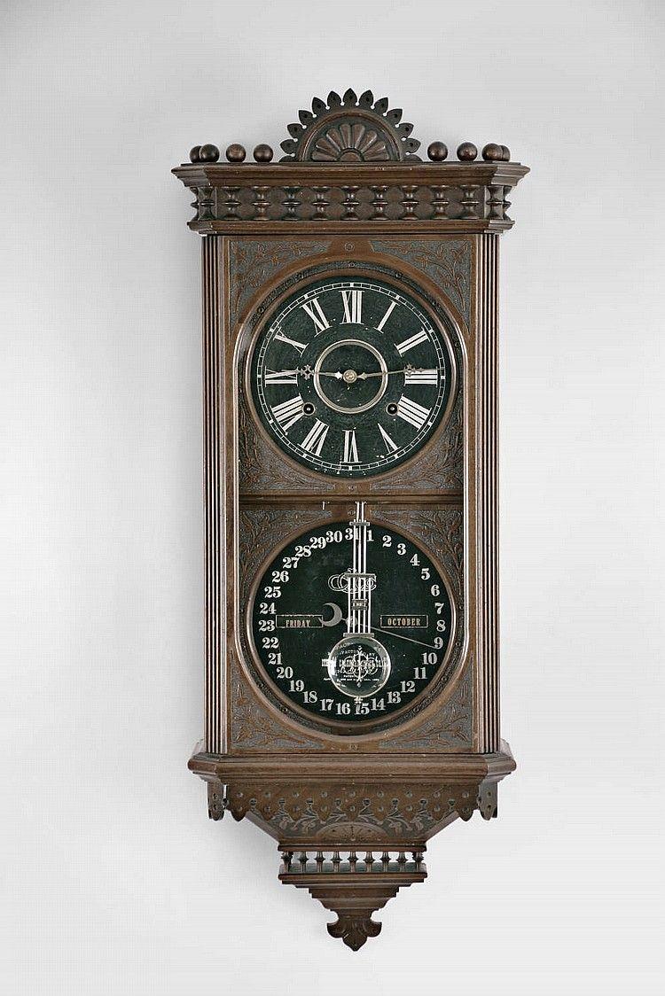 Sold 5500 Ithaca Calendar Clock Co Hanging Kildare Perpetual Calendar Clock Clock Antique Clocks Old Clocks