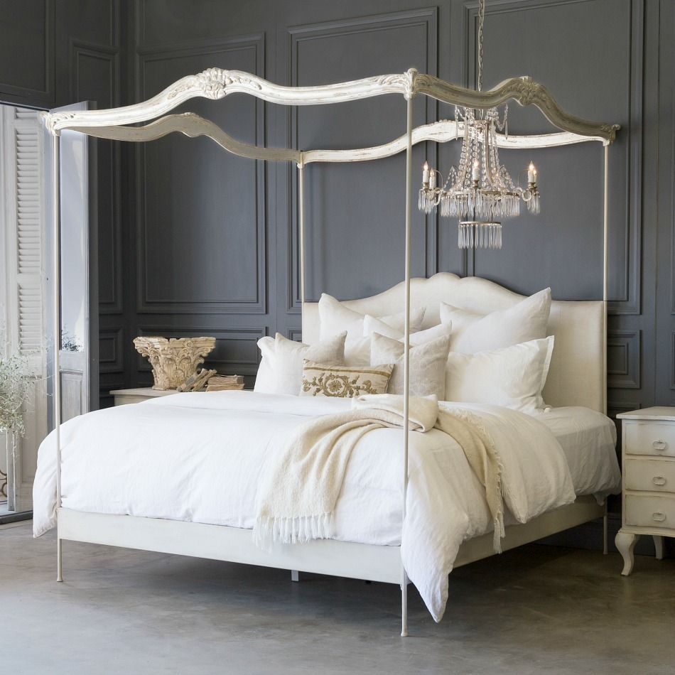 Queen Canopy Bed: Eloquence Aria Queen Canopy Bed Queen Canopy Bed Non