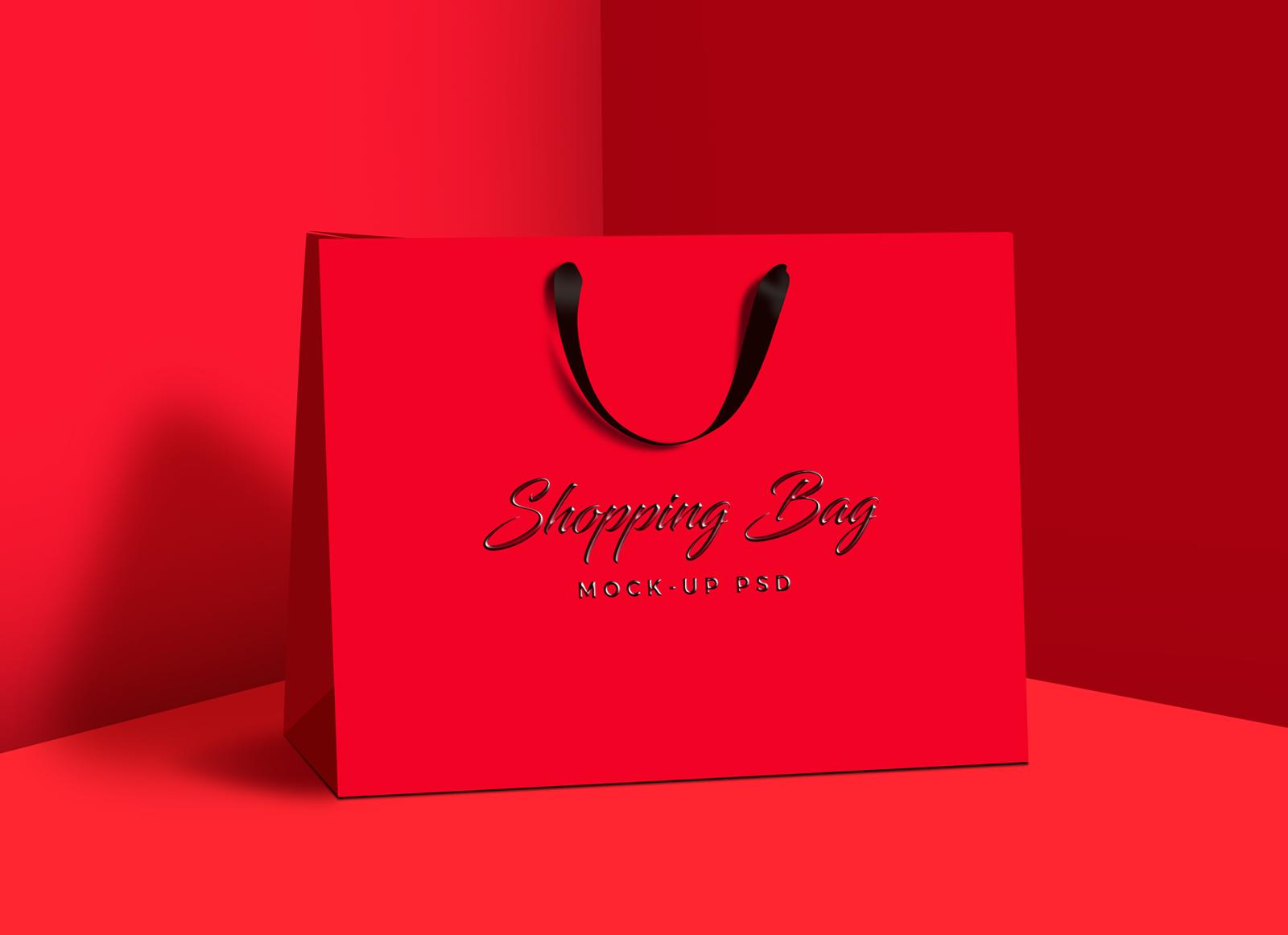 Download Free Photorealistic Shopping Bag Mock Up Psd Bag Mockup Bags Mockup
