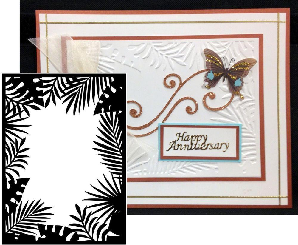 jungle border frame embossing folder darice embossing