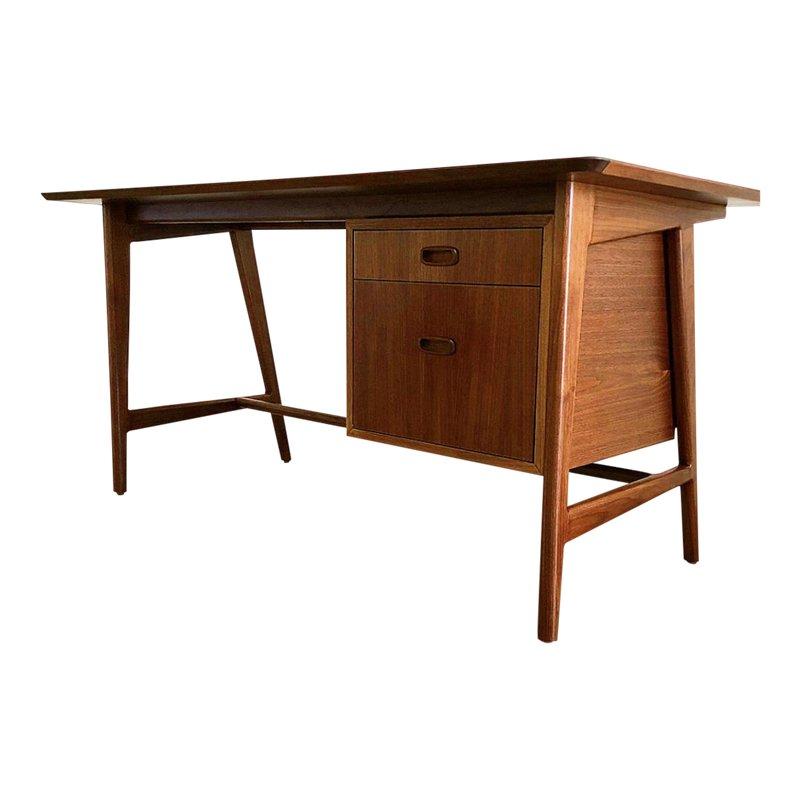 Danish Modern Walnut Desk Walnut Desk Modern Walnut Desks
