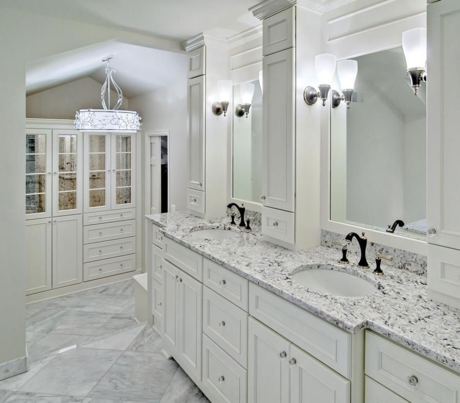 Best The Beauty Of White Ice Granite White Vanity Bathroom 400 x 300