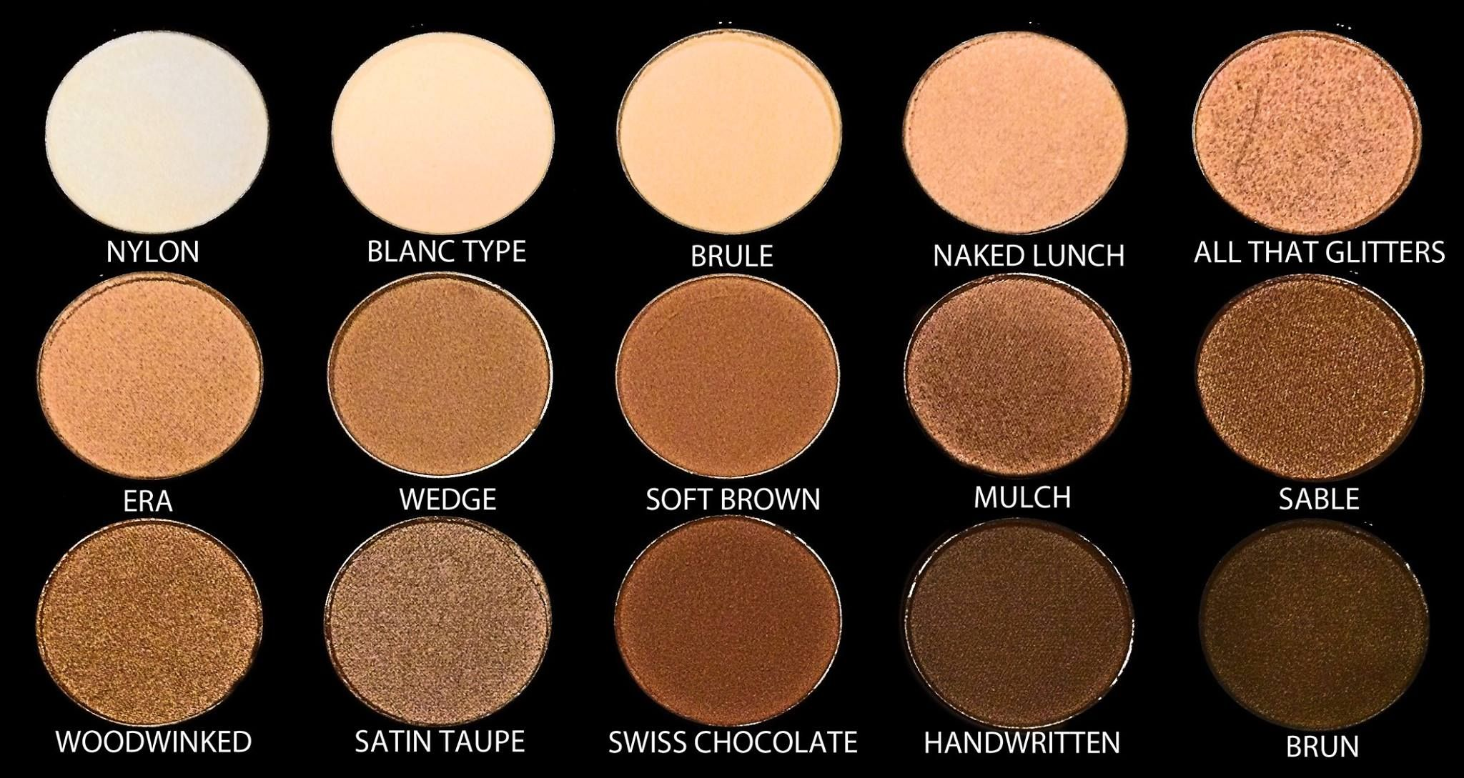 mac warm neutral palette names