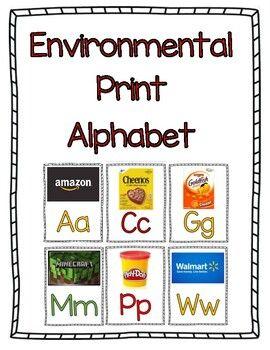 Environmental Print Alphabet Letters