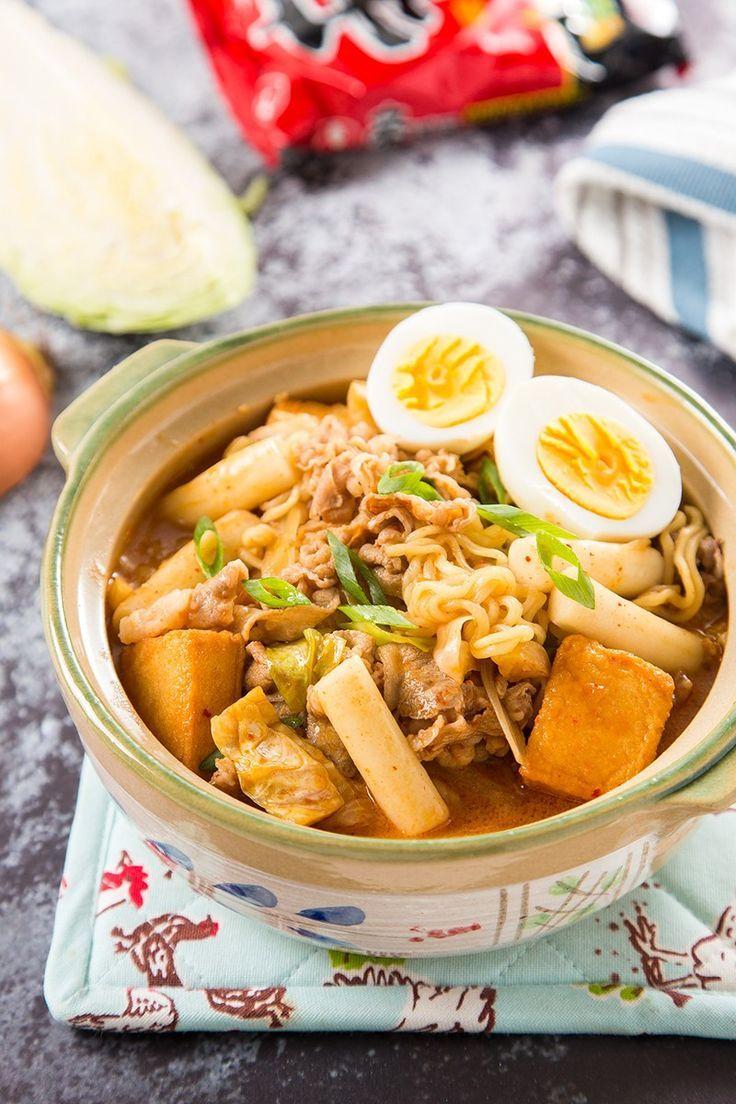 Rabokki (Korean Ramen & Rice Cakes) #dinner #koreanrecipe #rabokki #ricecake #instantnoodles #noodle #fishcake #beef #dinnerrecipe | The Missing Lokness