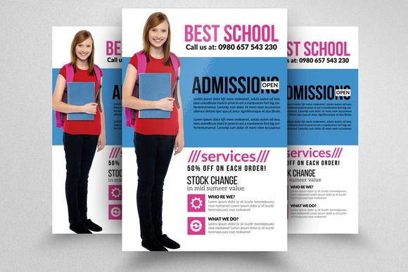 Admission Open School Flyer  Business Flyers Flyer Template And