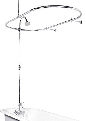 clawfoot tub shower enclosure kit. Heavy Duty Vintage Clawfoot Tub Shower System w  30 X 60 Oval Enclosures Antique Style Kit Bathroom Showers Brushed Nickel JT17SR