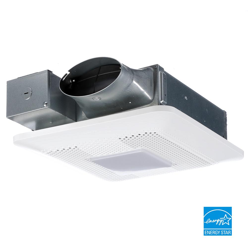 Panasonic Whisperthin Pick A Flow 80 Or 100 Cfm Exhaust Fan With Led Light Low Profile Ceiling Or Wall And 4 In Oval In 2020 Exhaust Fan Bathroom Vent Fan Led Lights
