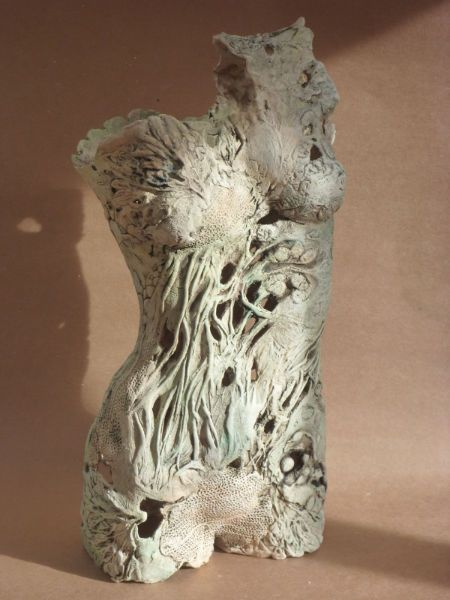 Grace Ceramic Torso At Coombe Gallery By Pauline Lee