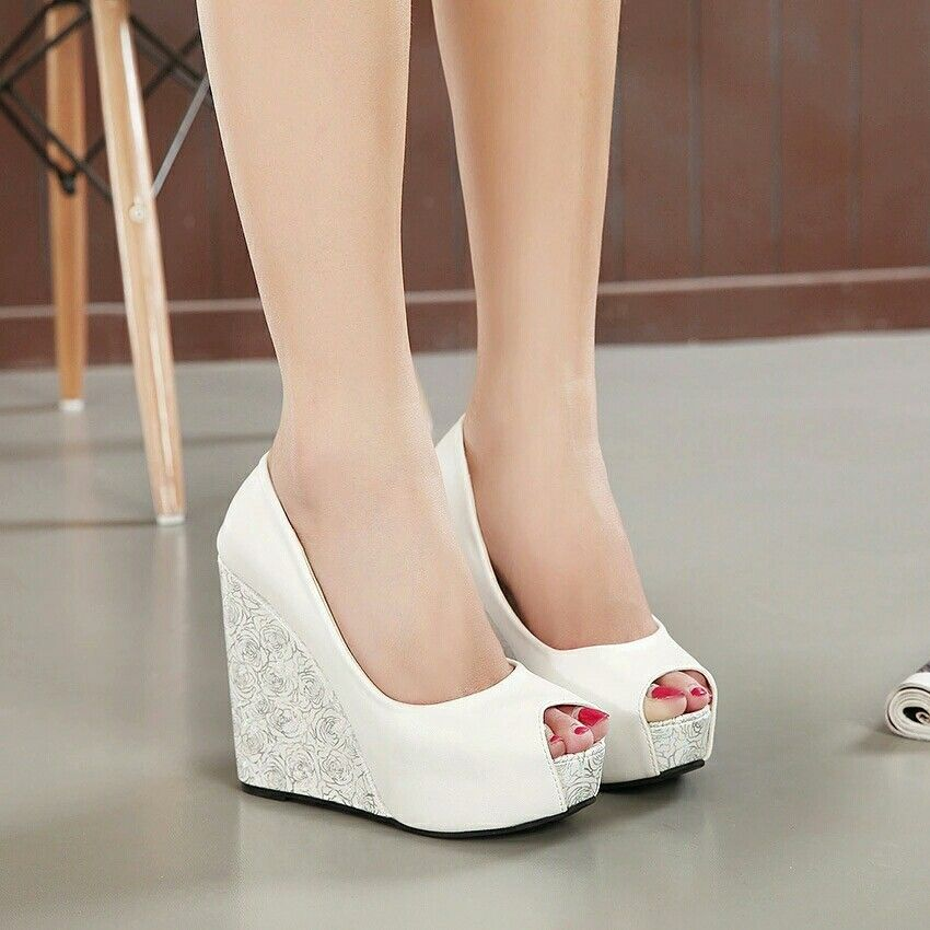 Pin by Raina Odoh on home ideas | Wedge wedding shoes, Blue