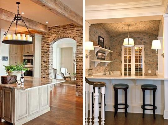 Exposed Brick Walls 29 Photos For Decorating Inspiration Decor Pinterest Exposed Brick