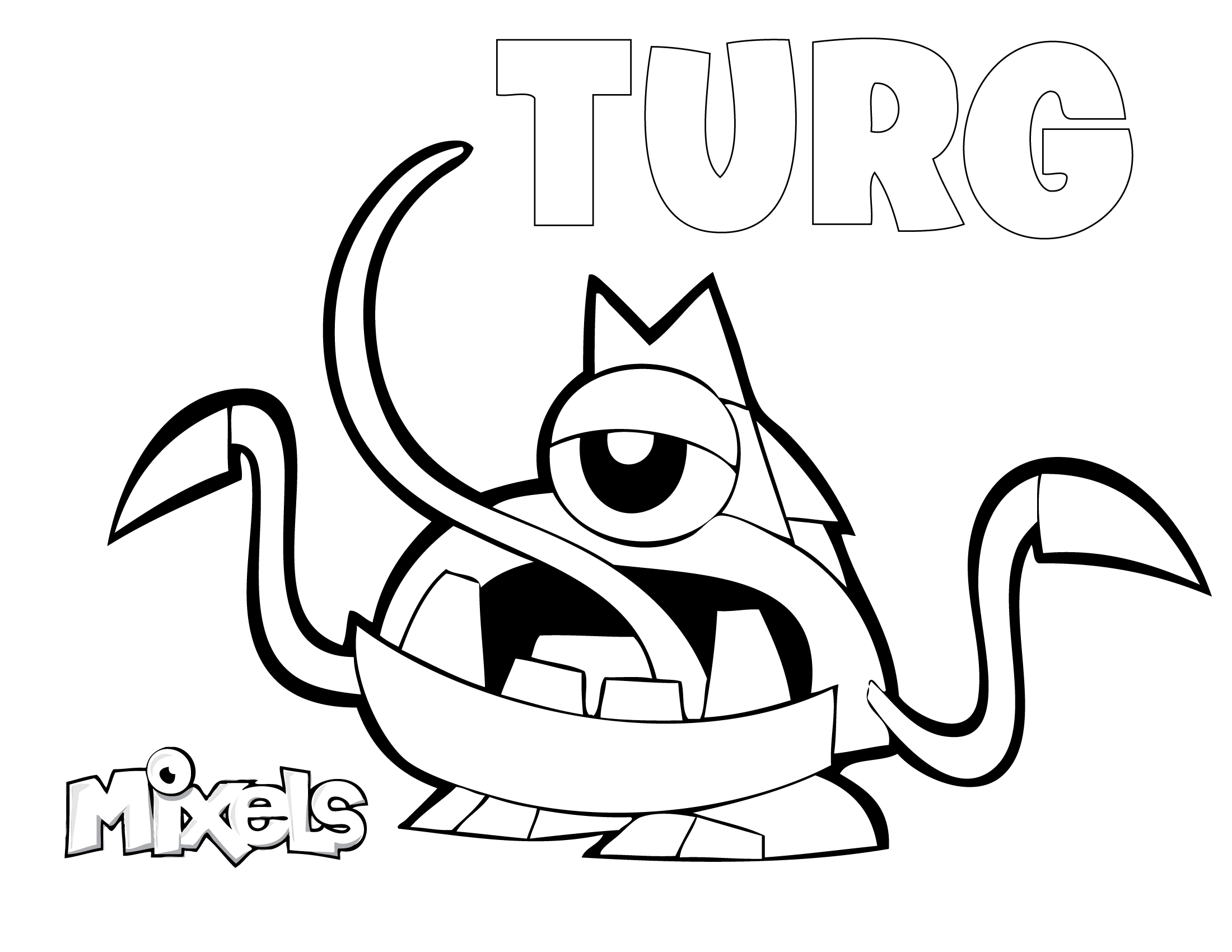 Mixels Turg Coloring Pages Educative Printable Coloring Pages Lego Party Cartoon Network Studios