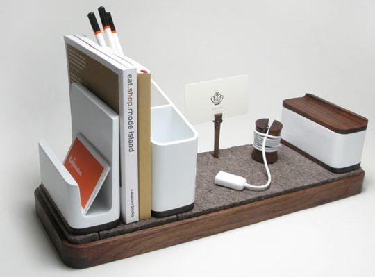 Kaiju Studios IO Desk Organizer Desks Modern Desk Accessories - Designer office desk accessories